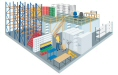 Illustration of warehouse interior showing all product ranges